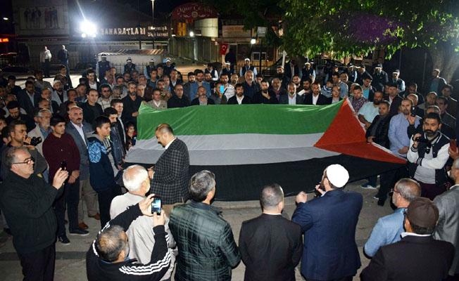 Malatya'da İsrail protesto edildi