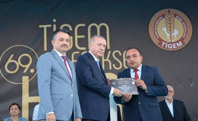 Malatya Sultansuyu Tarım İşletmesine Cumhurbaşkanı Erdoğan'dan ödül!