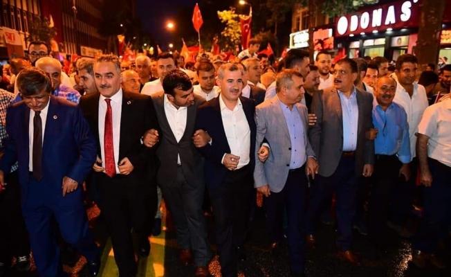 Malatya'da Milli Birlik ve Beraberlik yürüyüşü düzenlendi