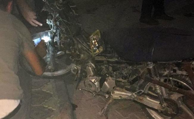 Otomobile çarpan motosikletin sürücüsü yaralandı!