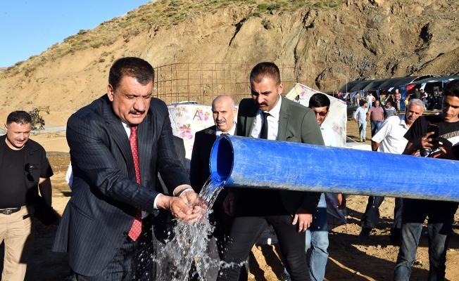 Gertan içme suyu projesi hizmete girdi