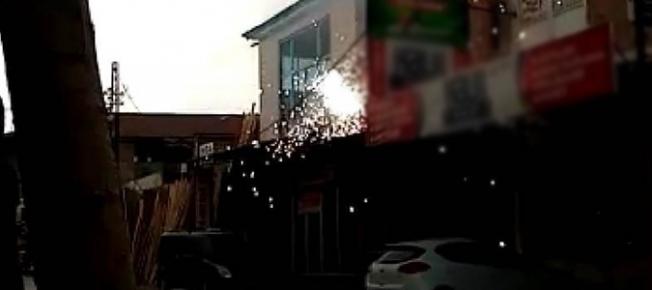 Şiddetli rüzgar yangına neden oldu!