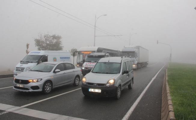 Malatya - Elazığ yolunda sis engeli