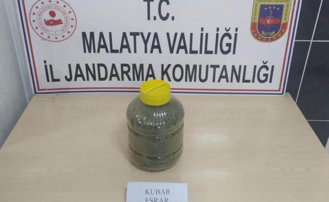 Malatya'da 1 kilo 600 gram esrar ele geçirildi