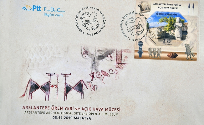 UNESCO Dünya Mirası Arslantepe Höyüğü PTT pullarına taşındı