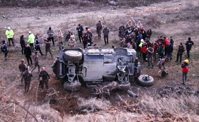 Cumhurbaşkanı Erdoğan'ın Doğanyol ziyareti öncesi polis zırhlı aracı kaza yaptı: 5 yaralı!
