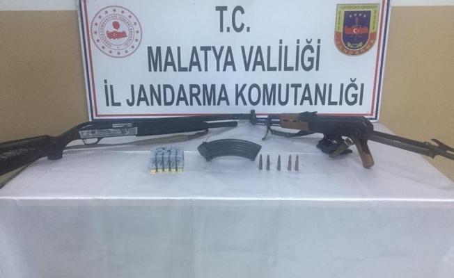 Malatya'da silahlar ele geçirildi: 1 kişi gözaltına alındı!