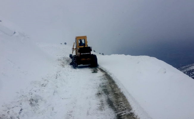 Malatya'da kırsal mahalle yolları kardan kapandı