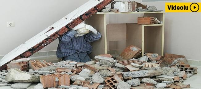 6.8'lik depremi bir kez daha birebir yaşadılar!