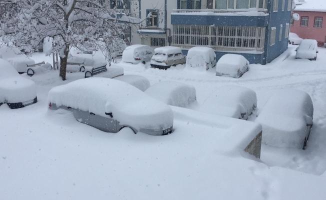 Kar hayatı olumsuz etkiliyor: Ulaşım sağlanamıyor!