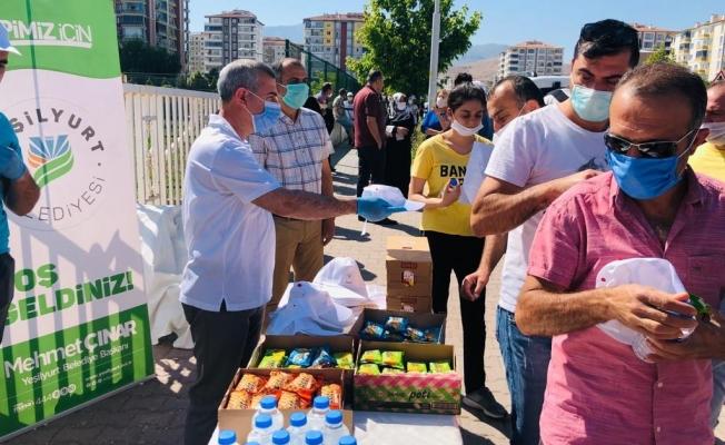 Başkan Çınar, YKS' ye giren öğrencileri yalnız bırakmadı