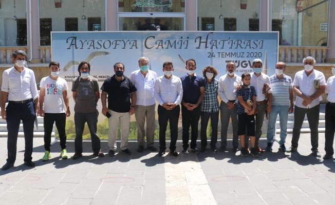 Ayasofya Camii'nin ibadete açılması nedeniyle fetih suresi okundu