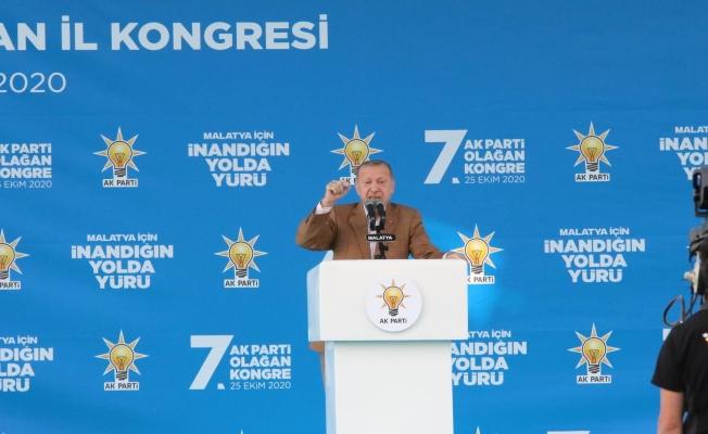 Erdoğan'dan Malatya'da Makron ve Wilders'e sert tepki!