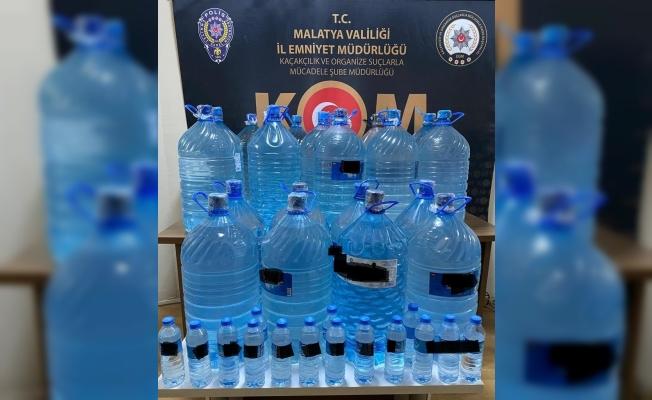 Malatya'da sahte içki operasyonu
