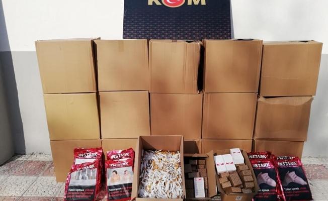 Malatya'da 5 silah, gümrük kaçağı tütün ve sigara ürünleri ele geçirildi