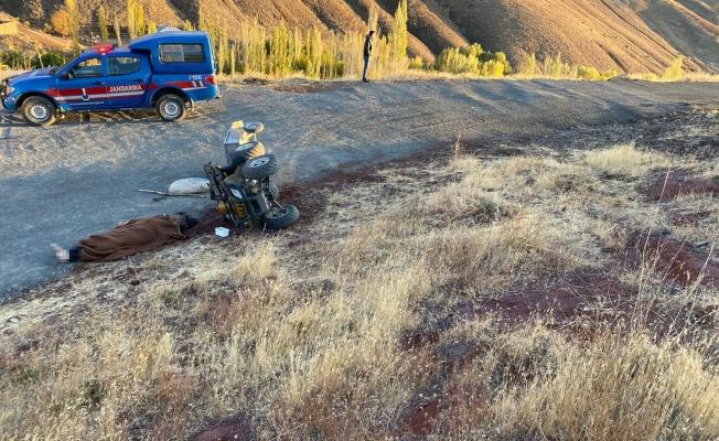 Malatya'da korkunç kaza! Devrilen ATV sürücüsü can verdi!
