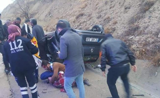 Malatya'da feci kaza! 3 kişi ölümden döndü