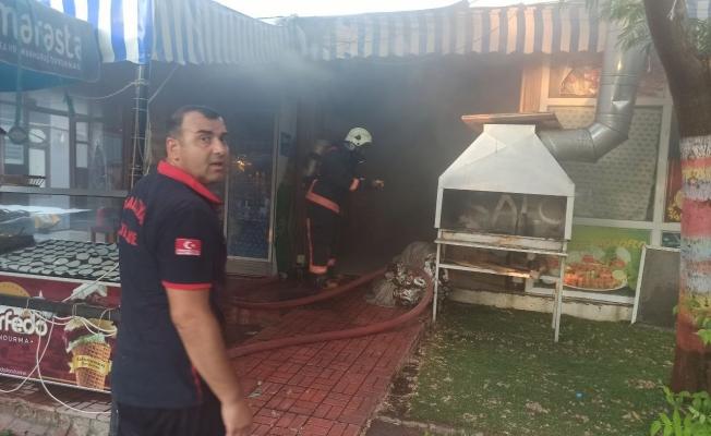 Malatya'da restoranda çıkan yangın korkuttu
