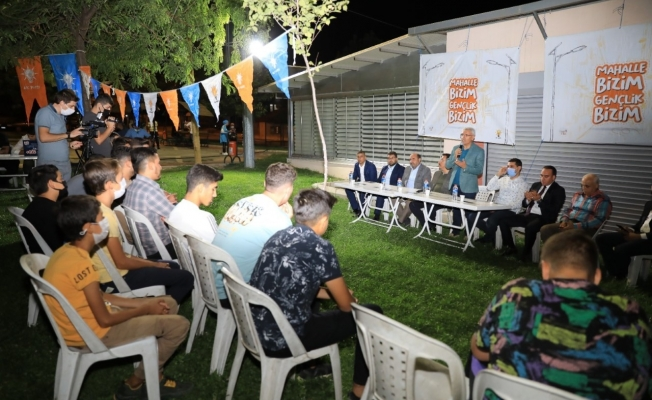 Başkan Güder, 'Mahalle Bizim Gençlik Bizim' programında gençlerle buluştu