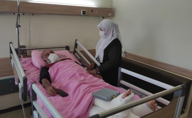 Hava ambulansıyla hastaneye kaldırılan Mustafa Sevim, sağlık ekiplerine teşekkür etti