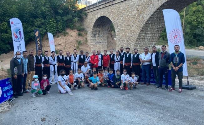 Malatya'nın tarihi yapılarında spor etkinlikleri...