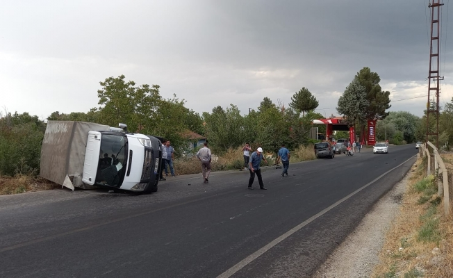 Yağış sonrası kayganlaşan yolda kaza!