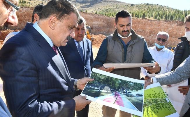 Başkan Gürkan, Beydağı tabiat parkında incelemelerde bulundu