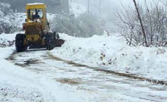 300 kırsal mahalle yolu kardan açıldı