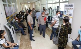 Battalgazi Belediyesi veznelerinde vergi yoğunluğu