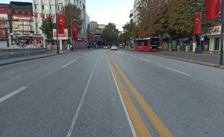 Malatya'da kısıtlama bitmesine rağmen sokaklarda sessizlik hakim