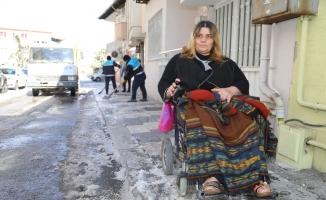 Kar mağduru engellinin yardımına belediye ekipleri yetişti