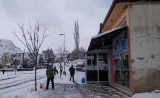 Kuluncak'ta da kar etkili oldu