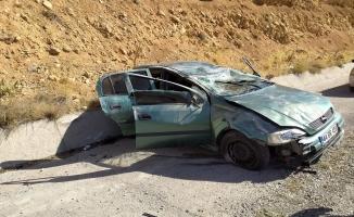 Araç takla attı! Sürücü yaralandı...