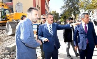 Başkan Gürkan yıkım çalışmalarını inceledi