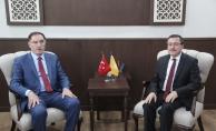 Kamu Başdenetçisi Şeref Malkoç'da Rektör Kızılay'a ziyaret!