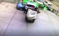 Motosiklet benzin istasyonunu birbirine kattı!