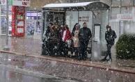 Malatya'ya mevsimin ilk karı yağdı