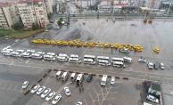 Malatya'da taksi ve servis araçları tek tek dezenfekte edildi!