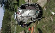 Otomobil şarampole yuvarlandı: 1 kişi ağır yaralandı!