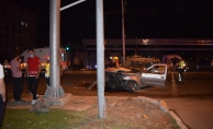 Malatya'da kırmızı ışıktan geçen otomobil kamyonete çarptı: 5 yaralı!