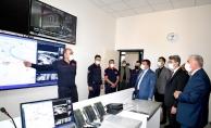 Vali Baruş ile Başkan Gürkan, yeni itfaiye binasını inceledi