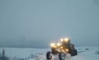 Malatya#039;da yoğun kar mesaisi