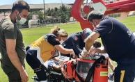 Ambulans helikopter bu kez sağlık personelinin imdadına yetişti