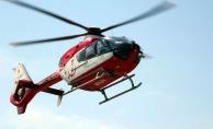Ambulans helikopter kara yoluna indi!