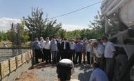 """""""Hazreti Hamza Cami"""" nin temeli törenle atıldı"""