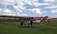 Yaşlı kadının imdadına hava ambulansı yetişti