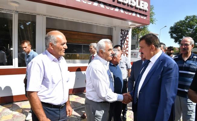 Başkan Gürkan Akçadağ'lı Muhtarla bir araya geldi!