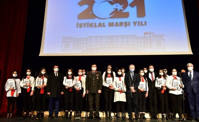 Malatya'da İstiklal Marşının Kabulünün 100. yıl dönümü programı düzenlendi