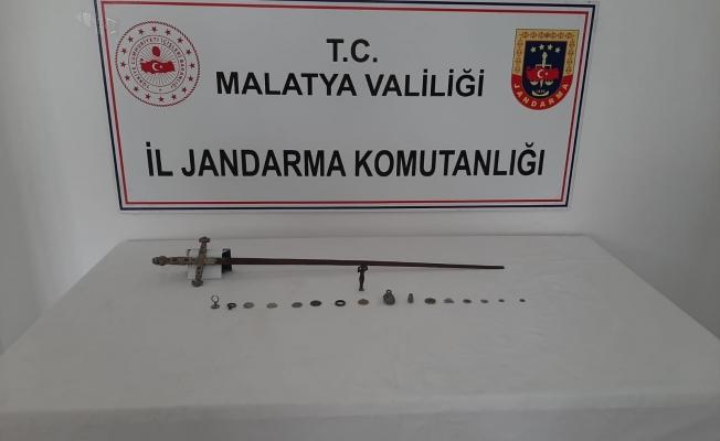 Malatya'da Bizans dönemine ait tarihi eserler ele geçirildi