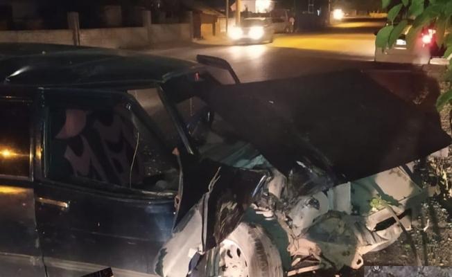 Alkollü sürücü kaza yaptı: 1 yaralı!